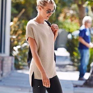 Athleta Aster Hi-Low Ribbed Tunic Sweater